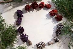 Fond de décoration d'hiver Photo libre de droits