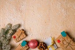 Fond de décoration de Noël Image libre de droits