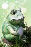 Fond de décoration de grenouille Un vieux f en céramique superficiel par les agents décoratif photo libre de droits