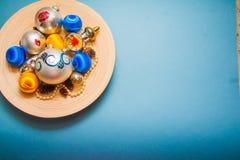 Fond de décorations d'hiver avec l'espace de copie Photo libre de droits
