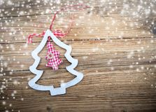 Fond de décorations de Noël de tradition Photos stock