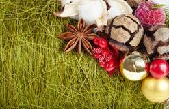 Fond de décorations de Noël et de nouvelle année Images stock
