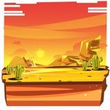 Fond de désert avec le cactus - vecteur Photo libre de droits