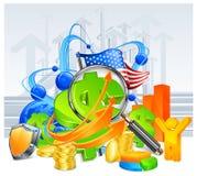 Fond de développement des affaires illustration stock