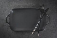 Fond de dîner avec la fourchette et le couteau photos libres de droits