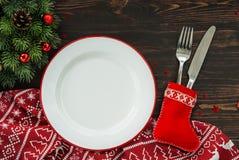 Fond de dîner de Noël photographie stock