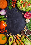 Fond de dîner de Vegan Photographie stock