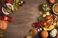 Fond de dîner de thanksgiving photo libre de droits