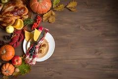 Fond de dîner de thanksgiving photo stock