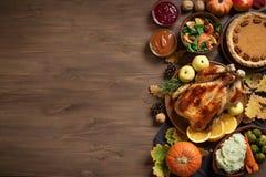 Fond de dîner de thanksgiving images stock
