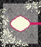 Fond de damassé, carte d'invitation Images libres de droits