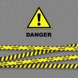 Fond de danger Photos stock