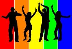Fond de danseurs Photo libre de droits