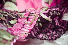 Fond de dentelle féminin de sous-vêtements Photo libre de droits