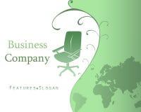 Fond de descripteur de société commerciale avec le logo - V Image stock