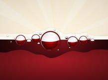 Fond de design de carte de menu de vin Photos stock