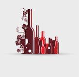 Fond de design de carte de menu de vin Photos libres de droits