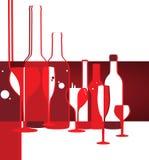 Fond de design de carte de menu de vin Photo libre de droits