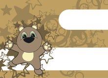 Fond de dessin animé de nounours Images libres de droits