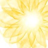Fond de dessin d'aquarelle Brouillard d'imagination Fleur ensoleillée Images stock