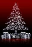 Fond de dessin d'arbre de Noël Photo stock