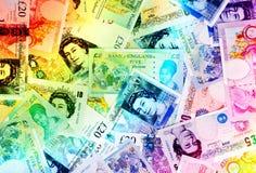 Fond de devise de livre - arc-en-ciel Images stock