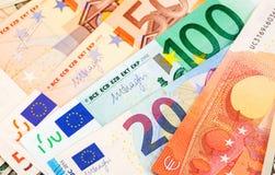 Fond de différents euro billets de banque Photo libre de droits