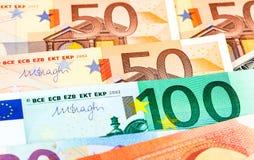 Fond de différents euro billets de banque Image libre de droits