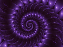 Fond de Digital Art Glossy Purple Abstract Spiral Photos libres de droits