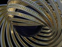 Fond de Digital, concept binaire de technologie 3d Images libres de droits