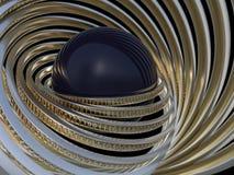 Fond de Digital, concept binaire de technologie 3d Photos libres de droits