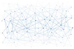 Fond de Digital de la Science ou de Blockchain Photo libre de droits