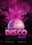 Fond de disco. Affiche de disco Photo stock