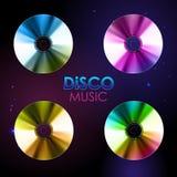 Fond de disco Ensemble de disques Photographie stock