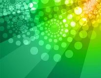 Fond de disco - vert et jaune Photo libre de droits