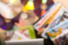 Fond de disques de DVD Photographie stock libre de droits