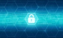 fond de données de sécurité d'affaires Image libre de droits
