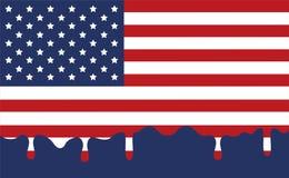 Fond de drapeau avec le vecteur de style de baisse Photographie stock libre de droits