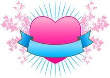 Fond de drapeau de coeur Images stock