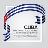 Fond de drapeau du Cuba illustration stock