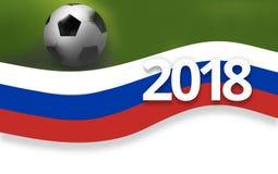 fond 2018 de drapeau du football de la Russie du football 3D Photo libre de droits