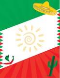 Fond de drapeau mexicain Photo stock