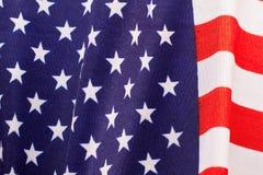 Fond de drapeau de tissu de bannière étoilée Photos libres de droits