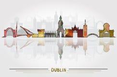 Fond de Dublin City de vecteur Photographie stock