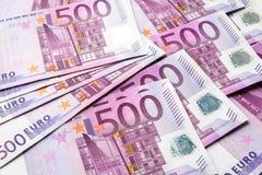fond de 500 euro billets de banque d'argent photo stock