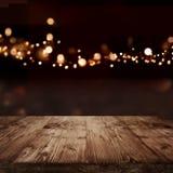 Fond de fête avec des effets de la lumière pour Noël photographie stock