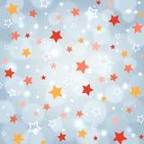 Fond de fête avec les étoiles multi de couleur Mod?le de vacances Fond de fête de partie Mod?le pour le papier d'emballage de vac illustration stock