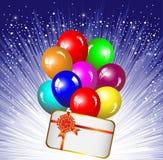 Fond de fête avec les ballons colorés Images libres de droits