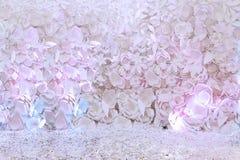 Fond de fête avec les fleurs de papier Images libres de droits