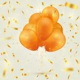 Fond de fête coloré avec des ballons et des confettis illustration de vecteur